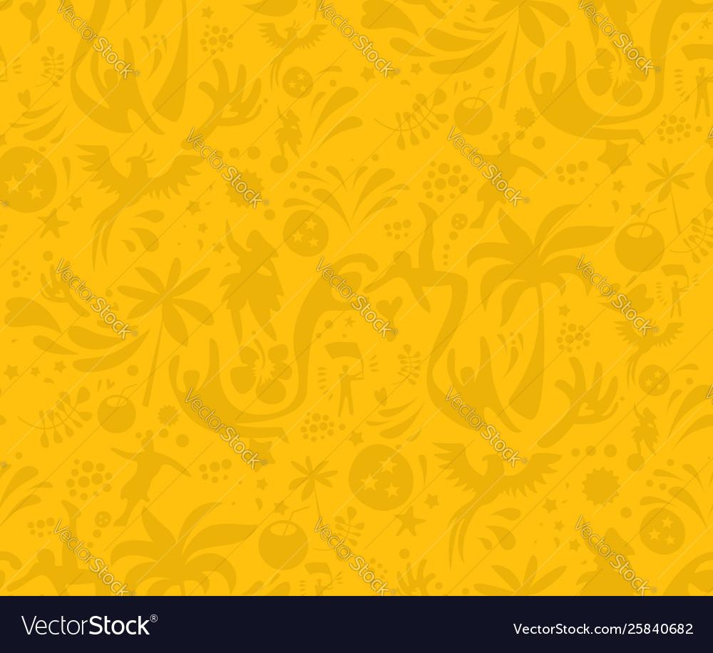 Seamless Sports Yellow Pattern Abstract Football