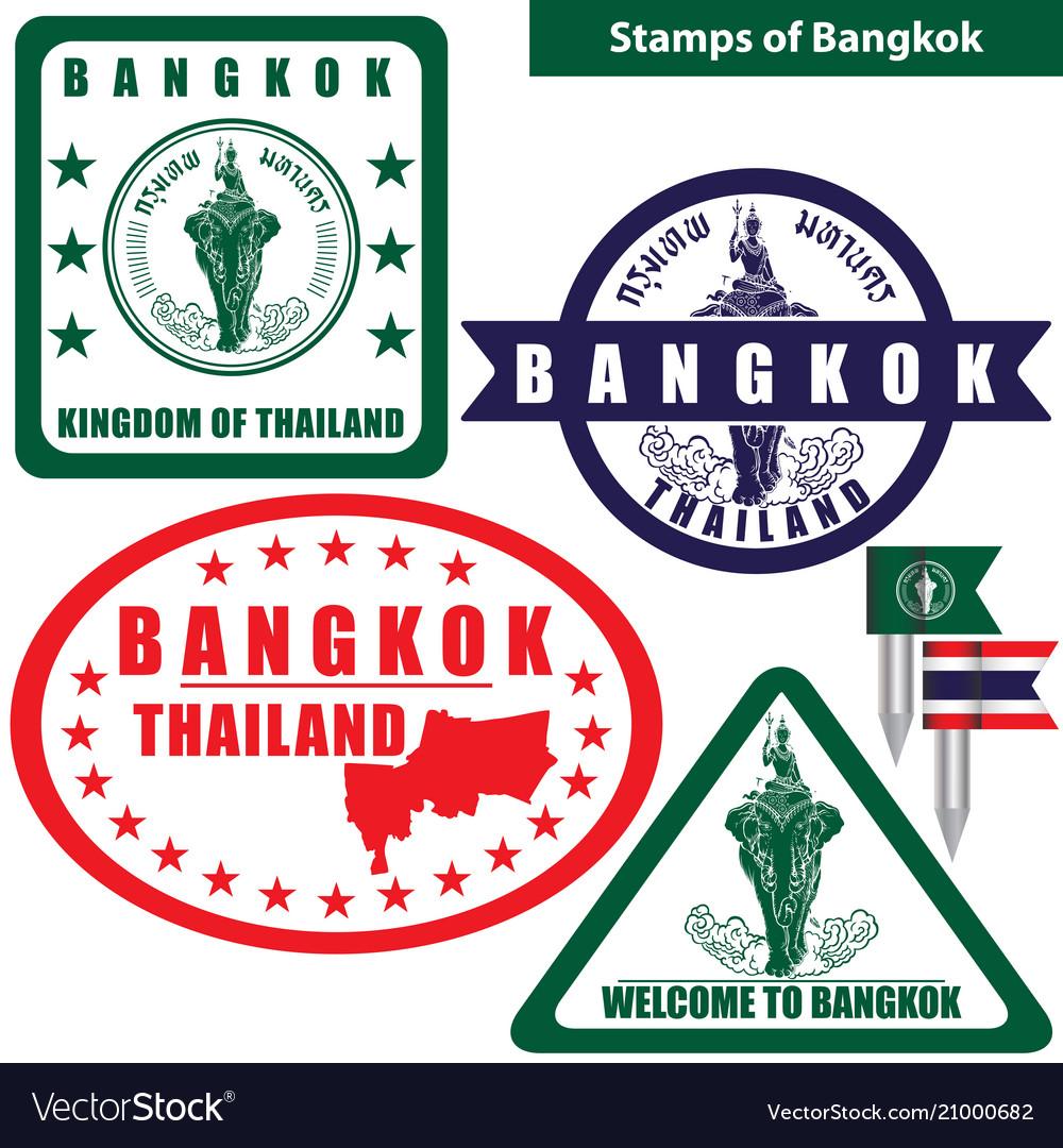 Stamps of bangkok thailand