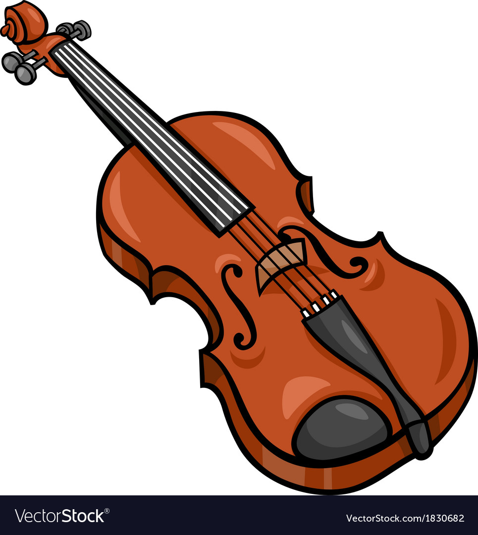 violin cartoon clip art royalty free vector image rh vectorstock com cartoon violin player cartoon violin sound effect