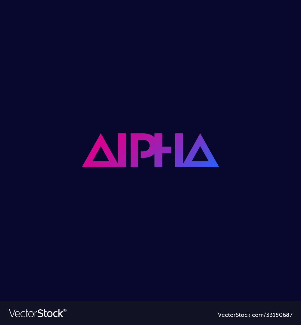 Alpha logo minimal design