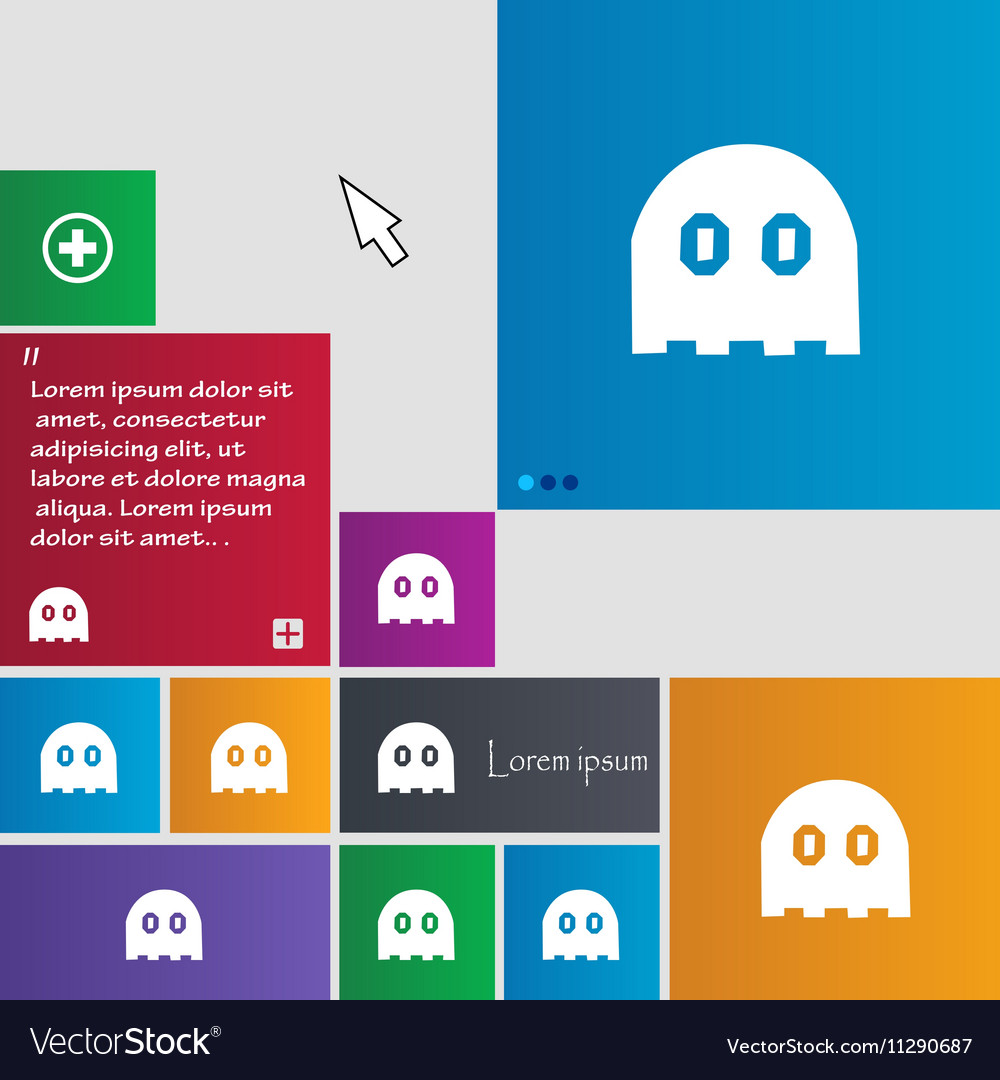 Ghost icon sign buttons Modern interface website