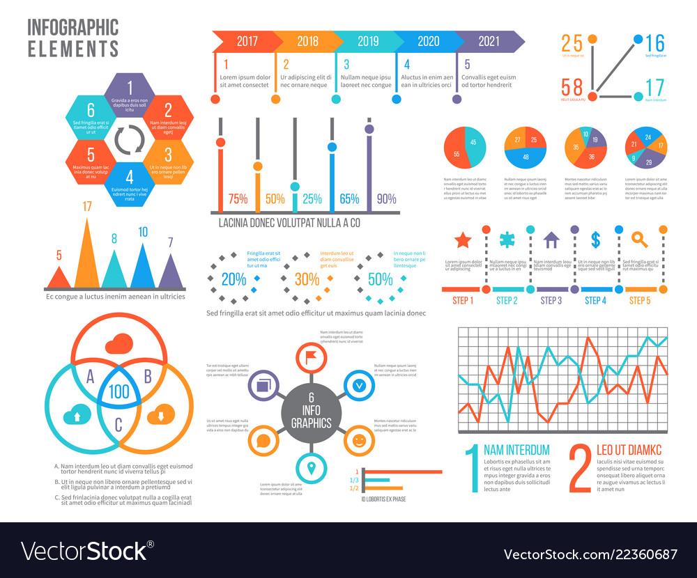 Infographics elements statistics chart option