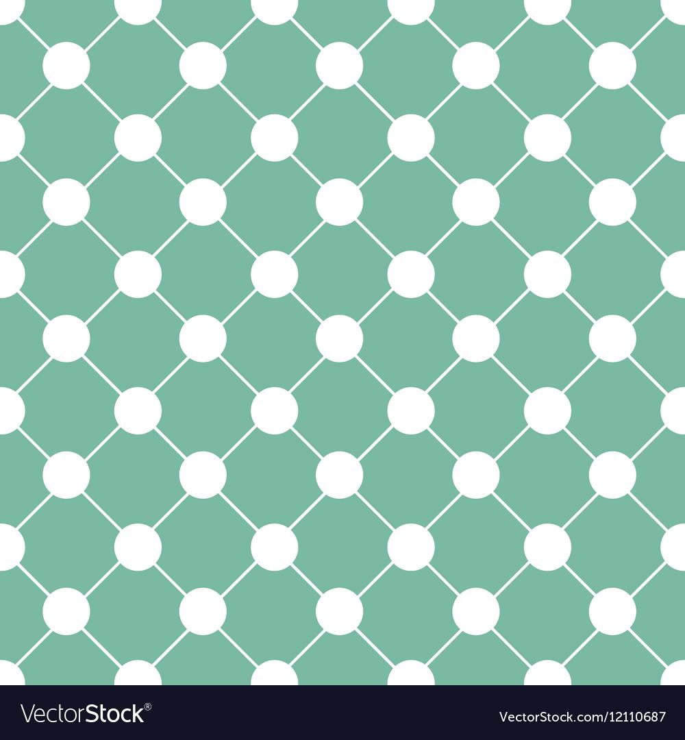 White Polka dot Chess Board Grid Green
