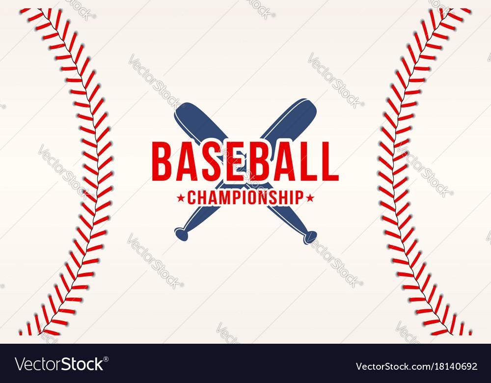 Baseball background baseball ball laces stitches