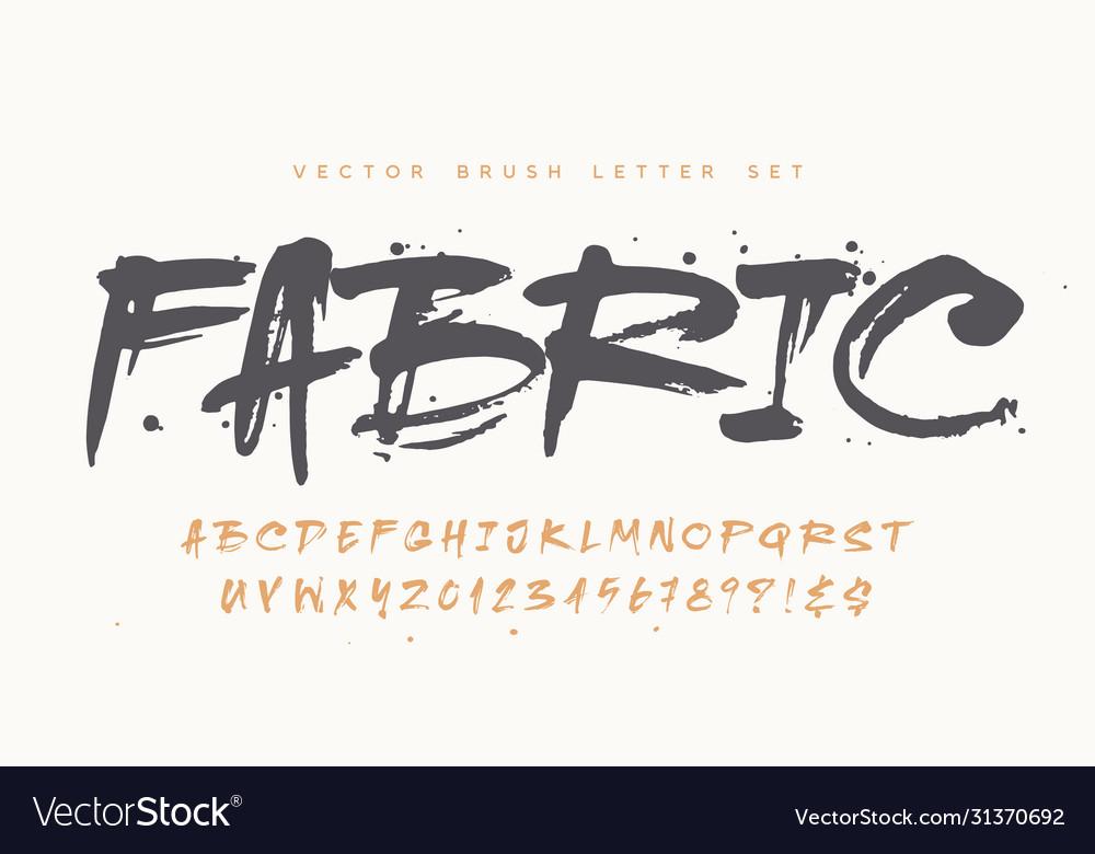 Catchy handwritten modern brush letter set