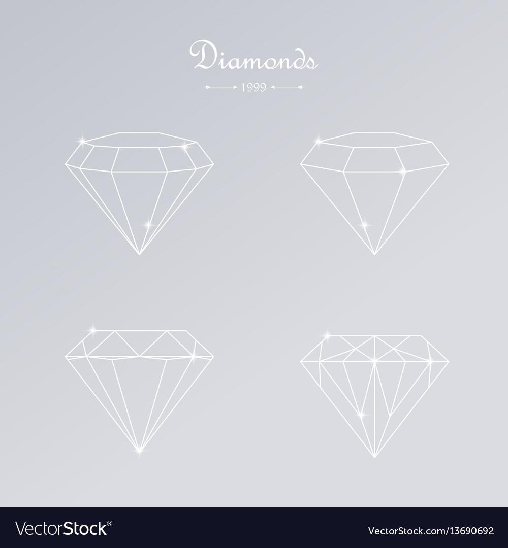 Diamond thin line elements
