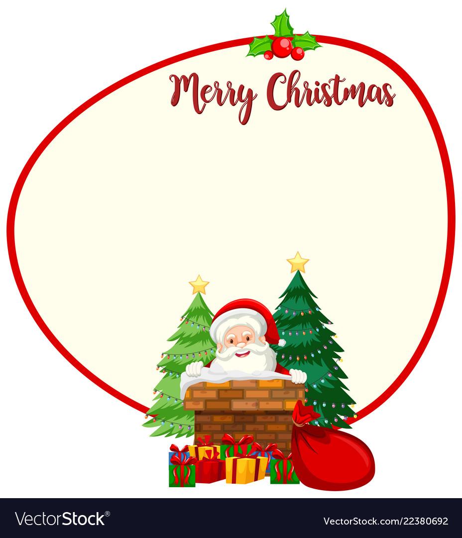 Santa christmas card template