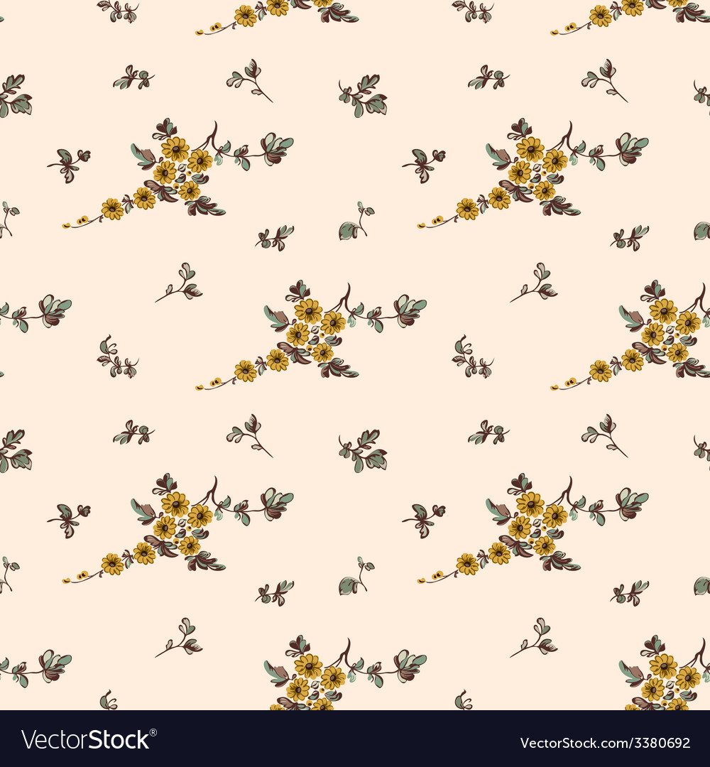 Seampless pattern yellow flower floral