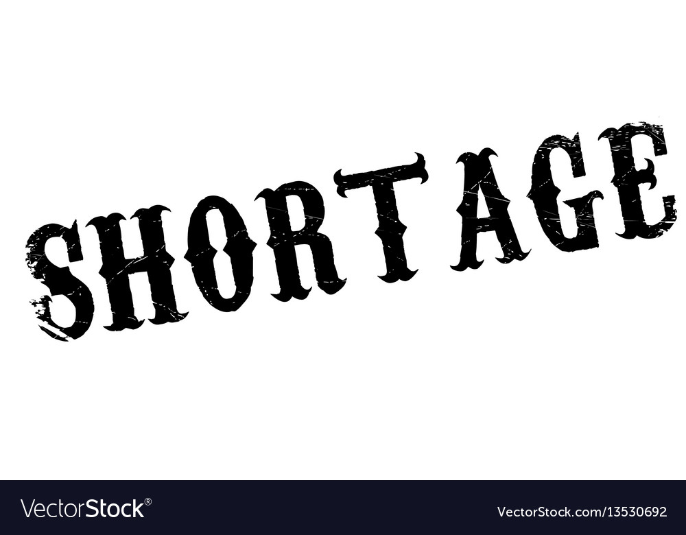 Shortage rubber stamp