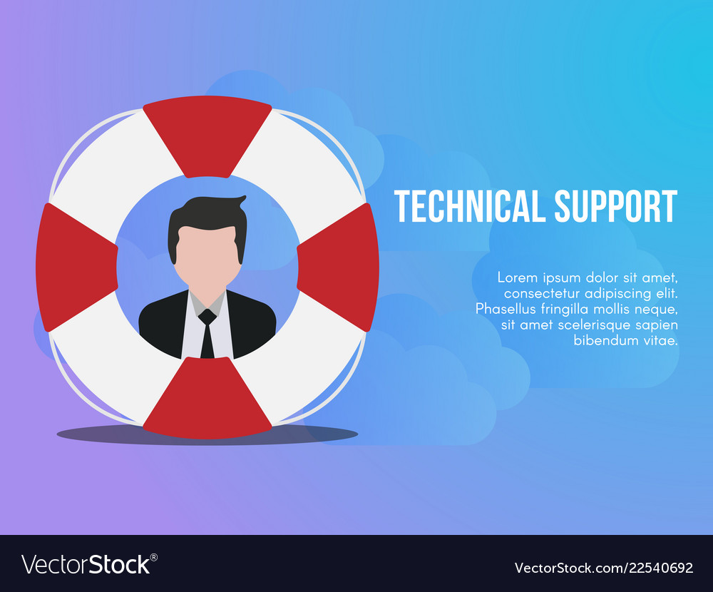 Technical support concept design template