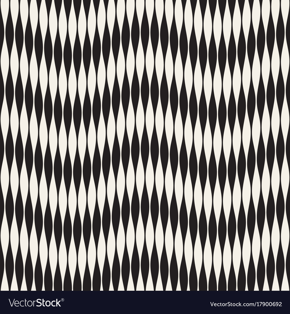 Wavy stripes seamless pattern retro wavy