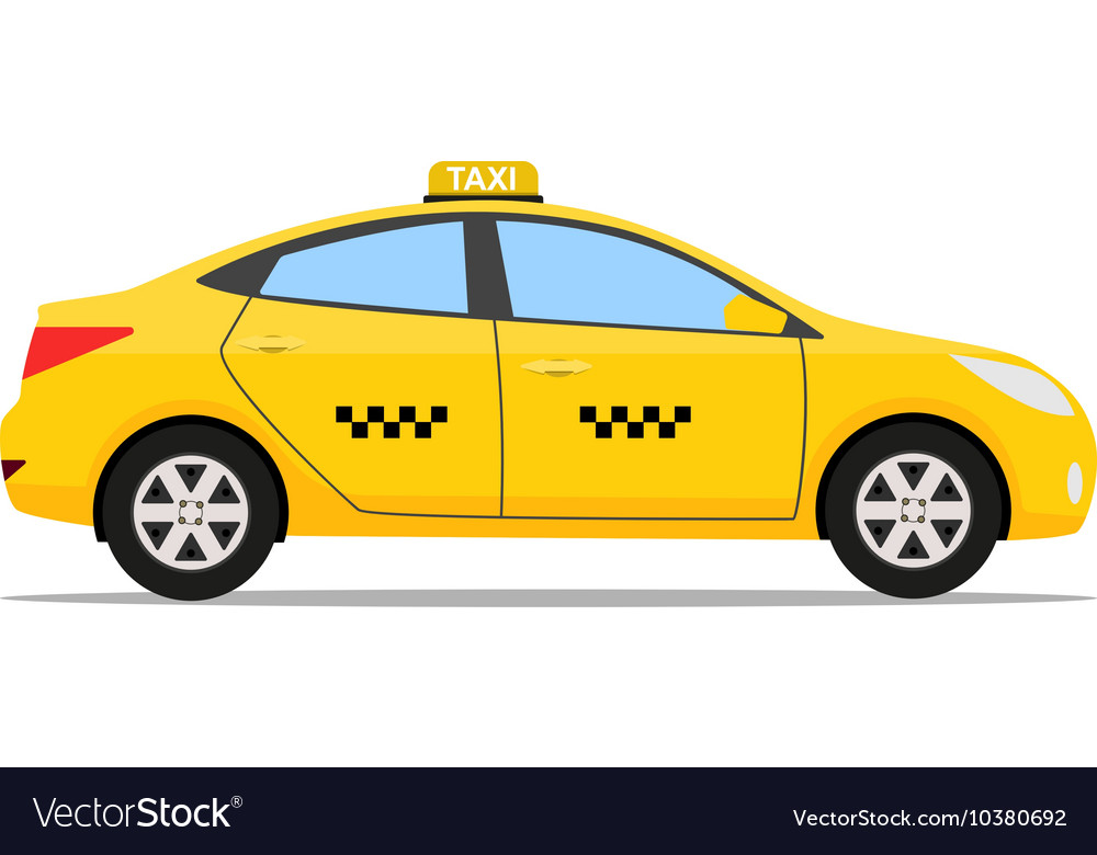 Yellow taxi car