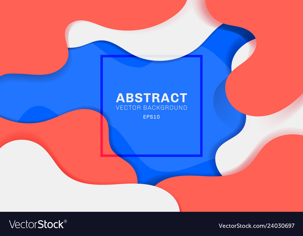 Abstract dynamic 3d fluid shapes modern concept