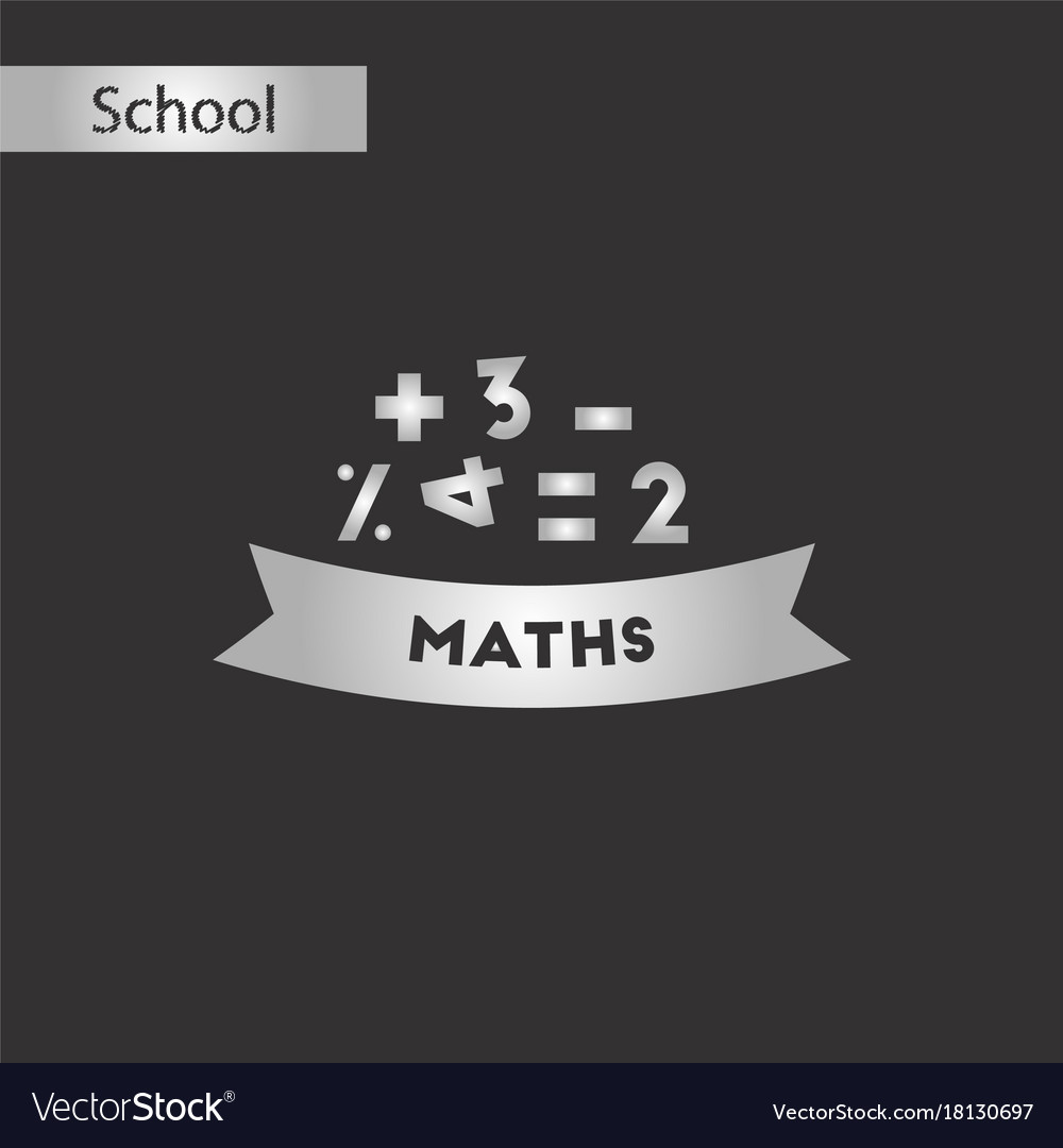 Black and white style icon math lesson