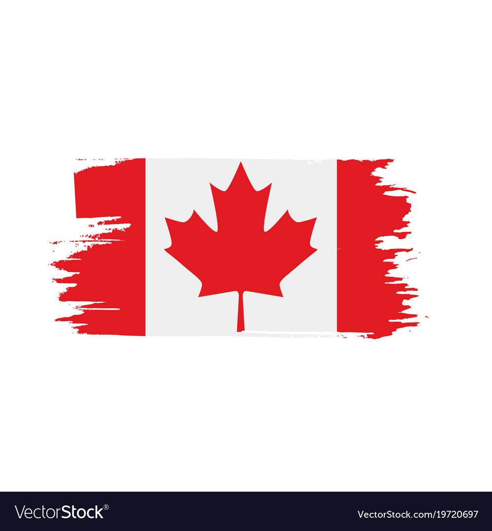 canada flag royalty free vector image vectorstock rh vectorstock com canada flag vector download canada flag vector ai