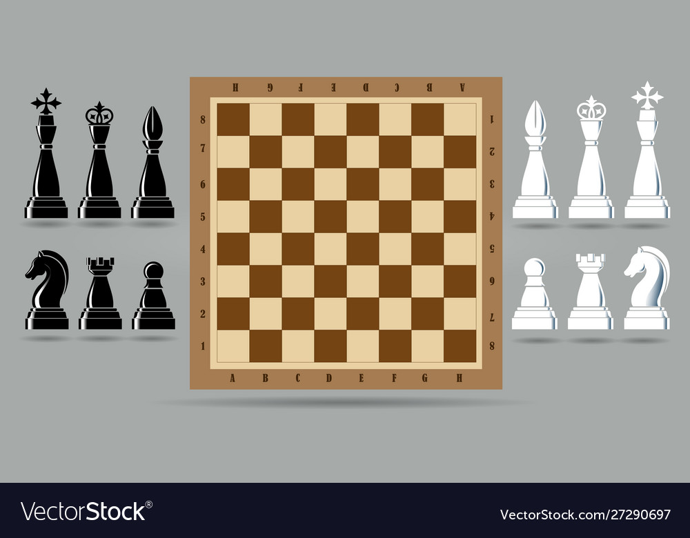 Chess piece set with chess board