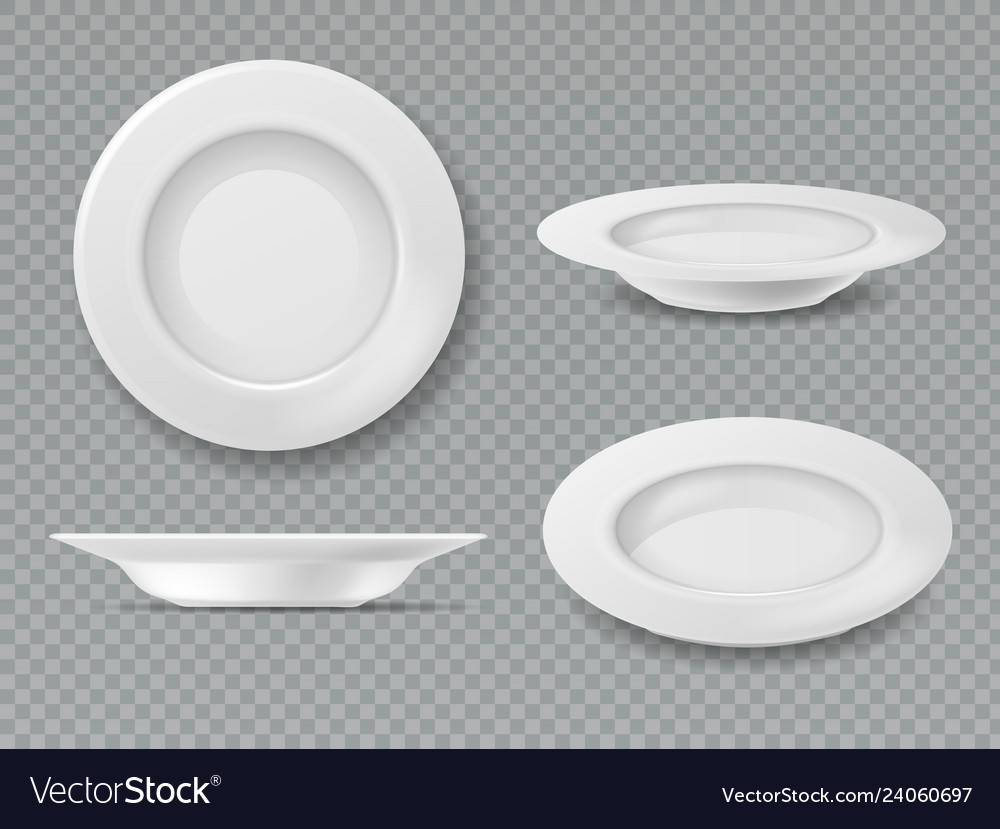 Food white plate empty plate top view dish bowl