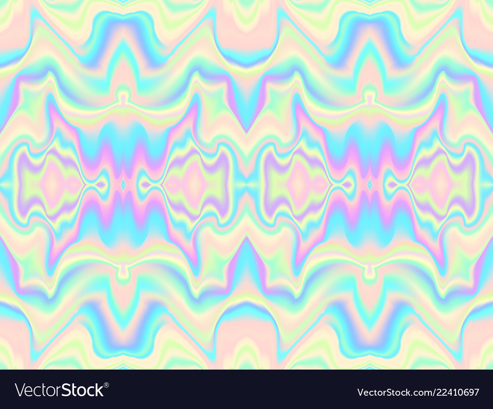 Holographic waves seamless pattern