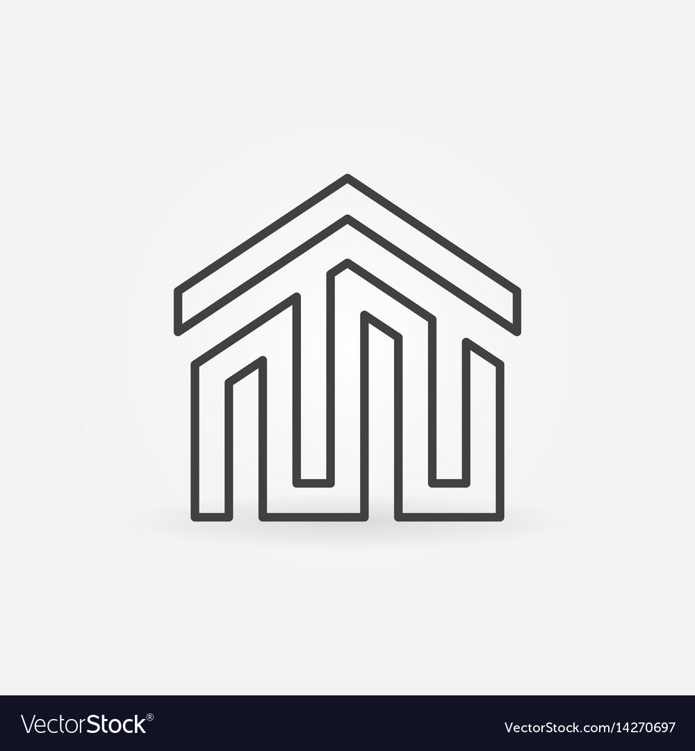 House building icon or logo