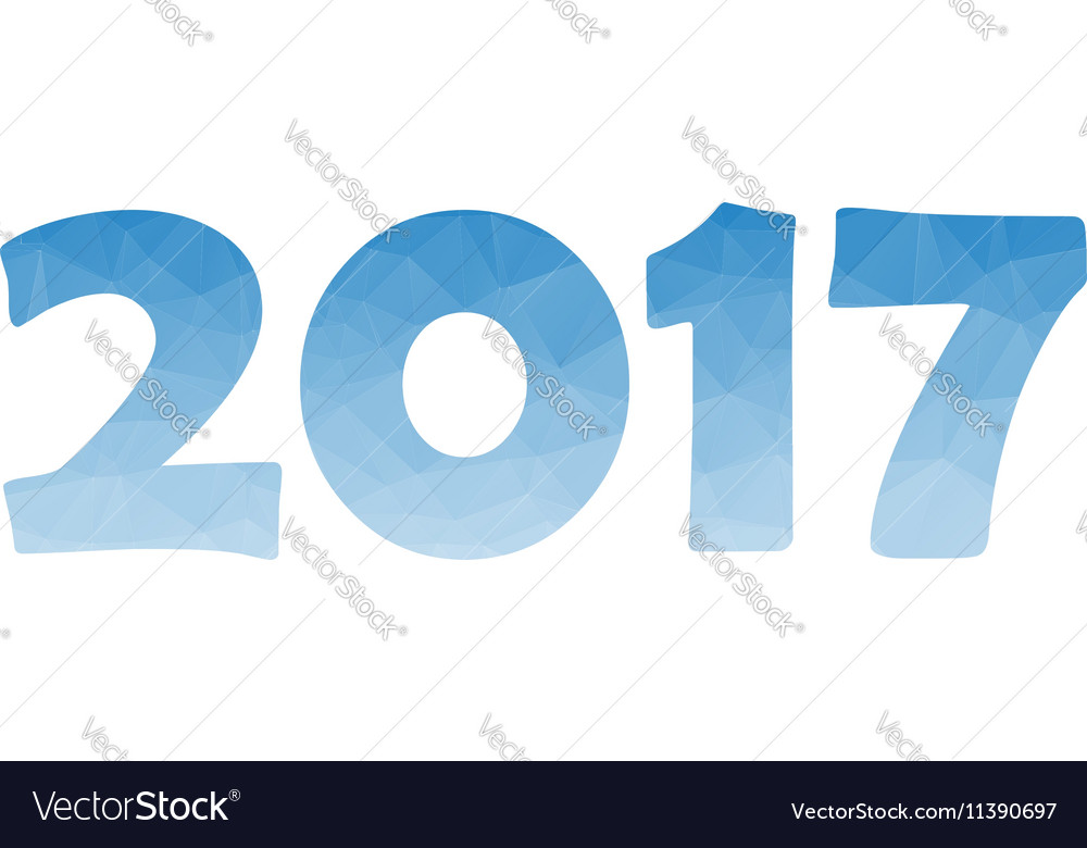 New Year background with text 2017 vector image