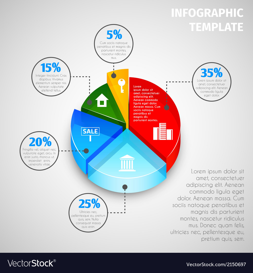 pie chart real estate infographic royalty free vector image