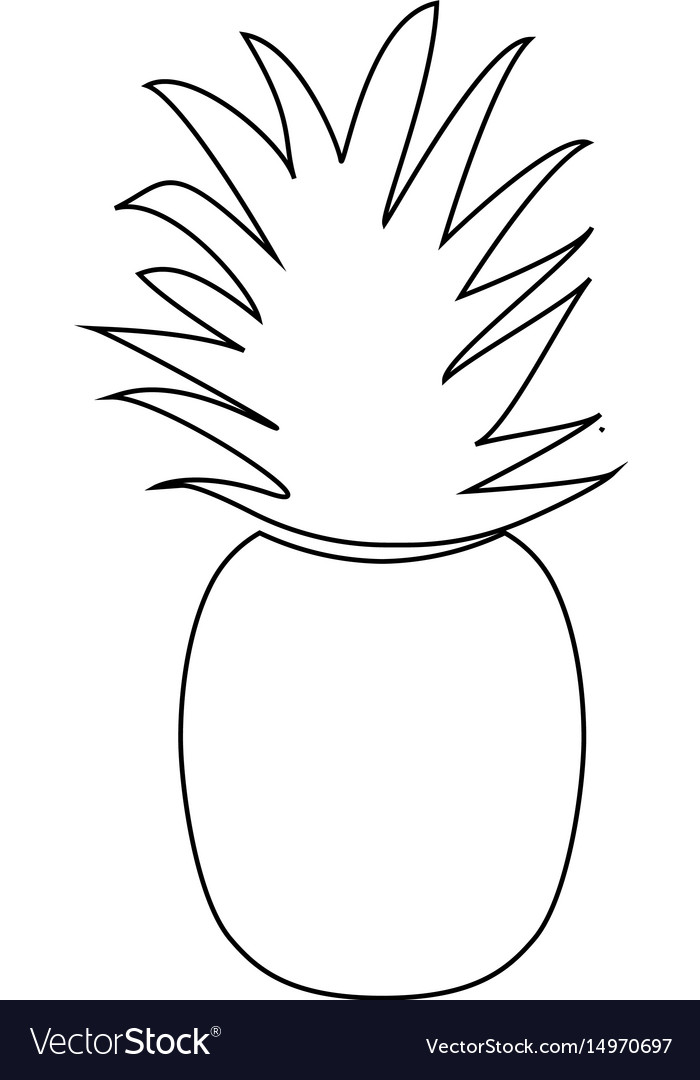 Pineapple the black color icon