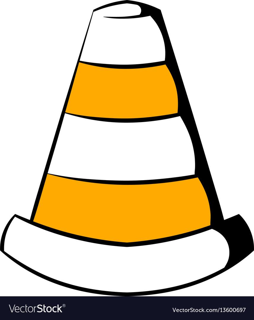 Traffic cone icon icon cartoon