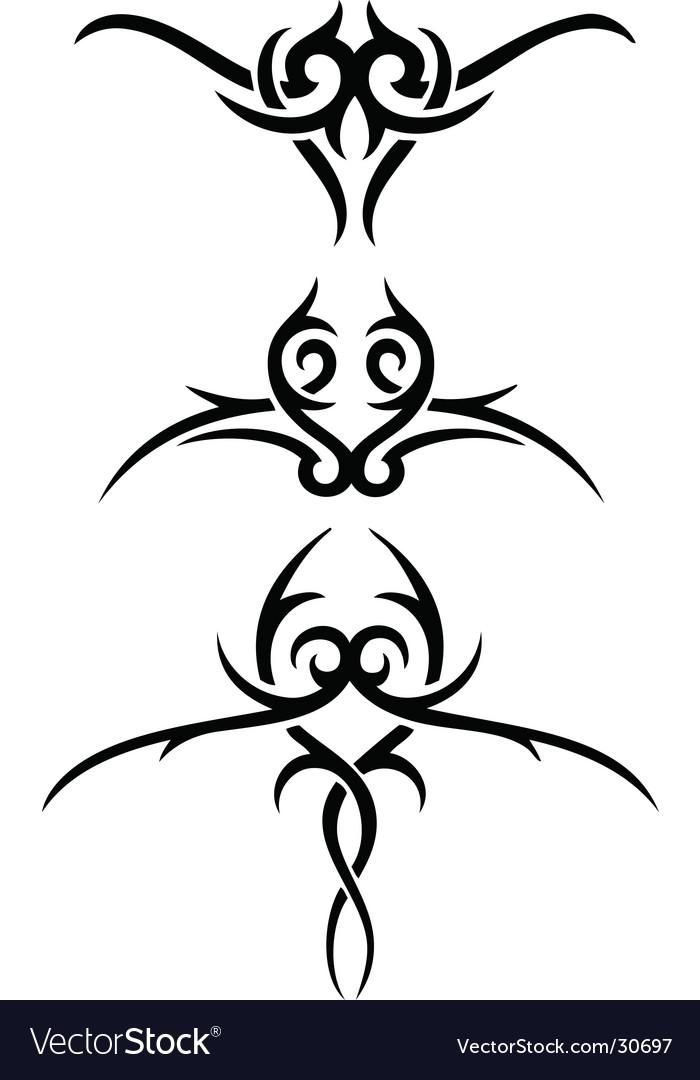 Tribal wings set