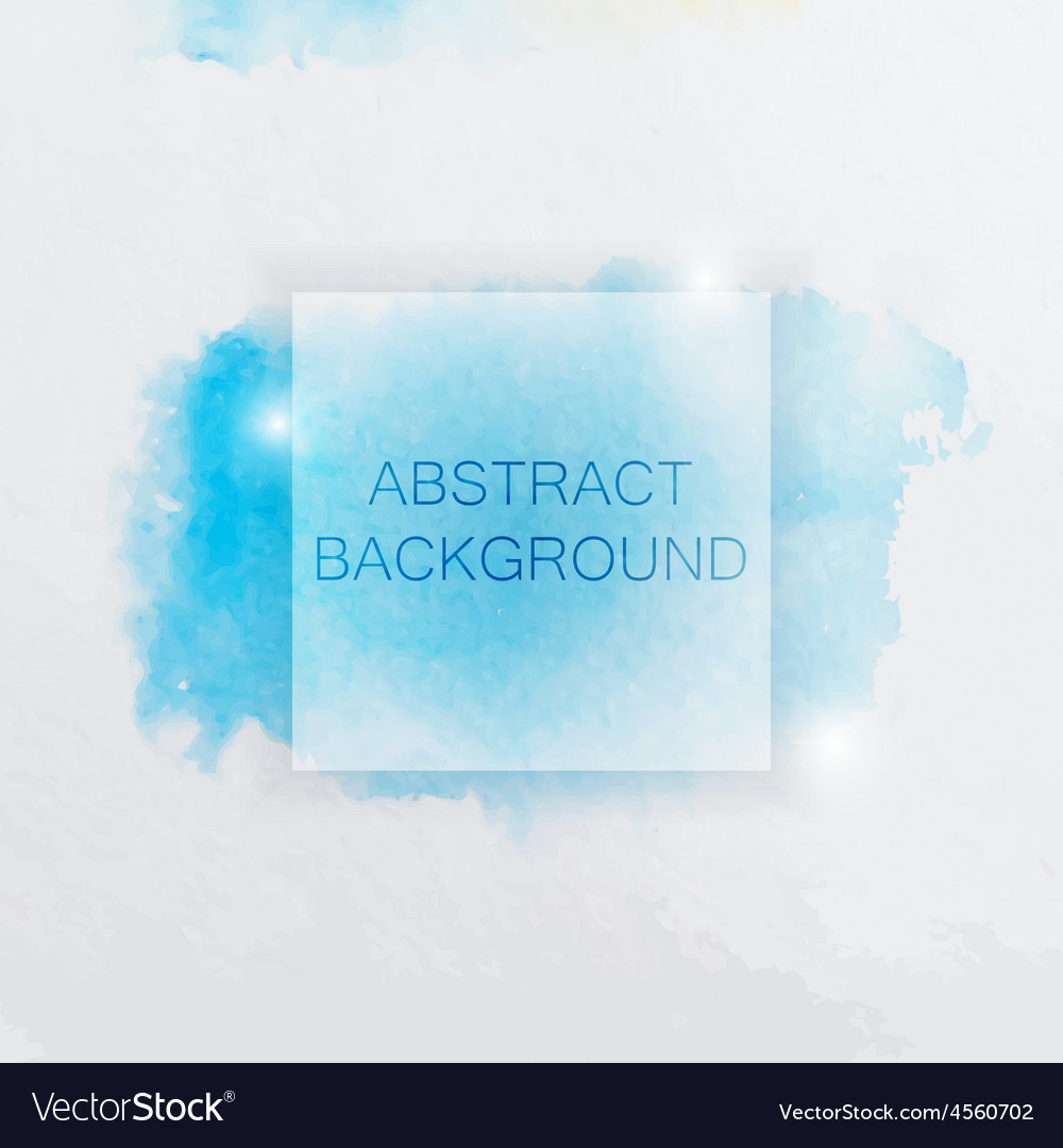 Abstract Watercolor Background with Blue Splash vector image