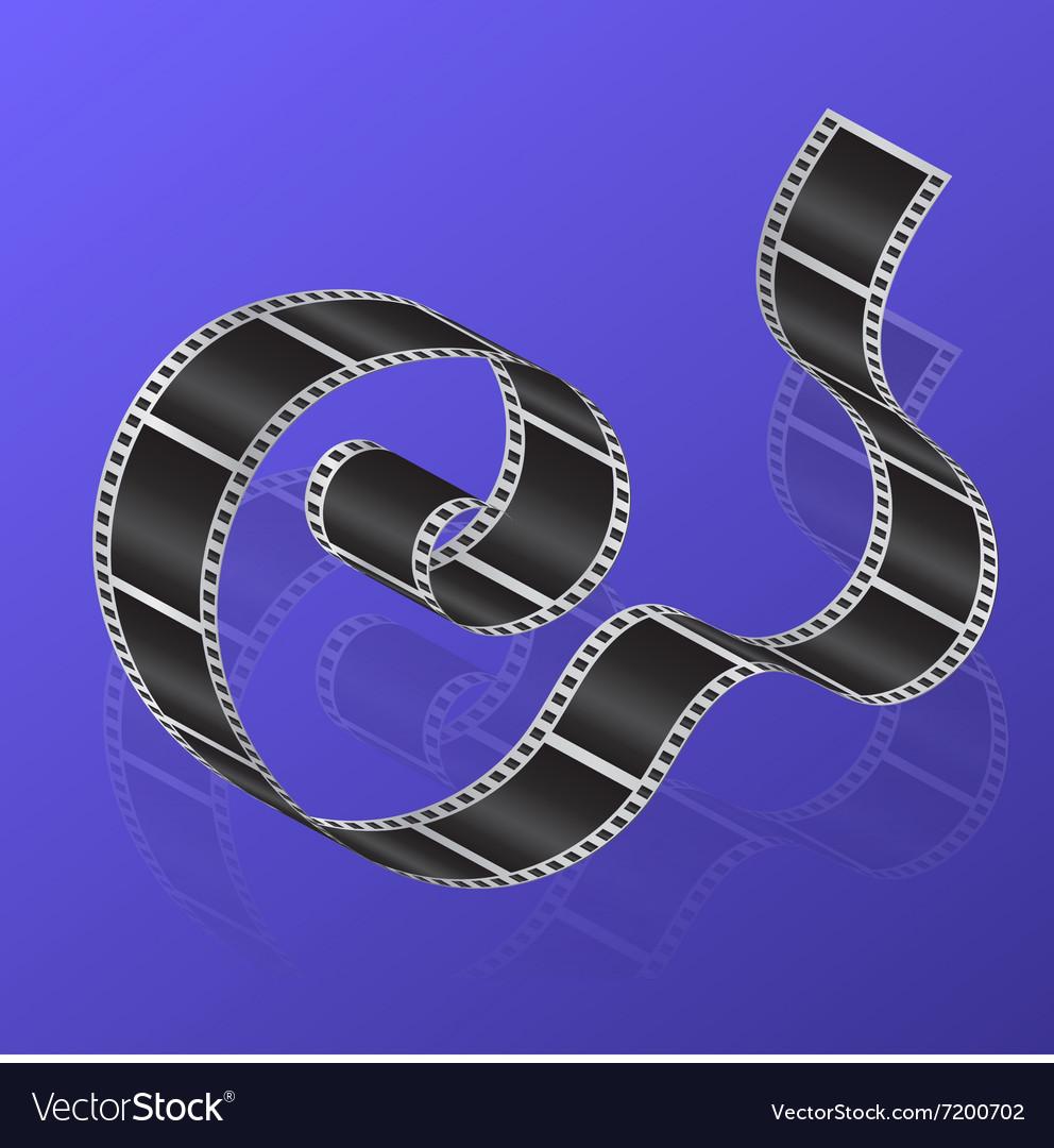 Cine-film on a gradient background