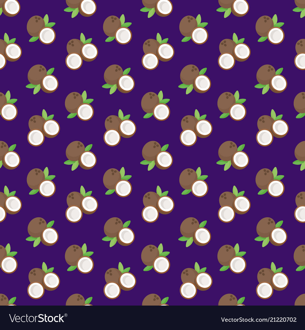 Coconut flat seamless pattern