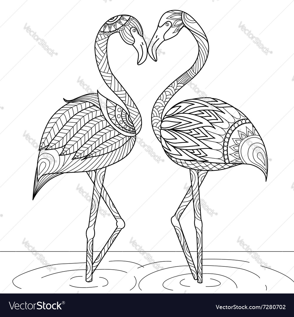 Flamingo coloring