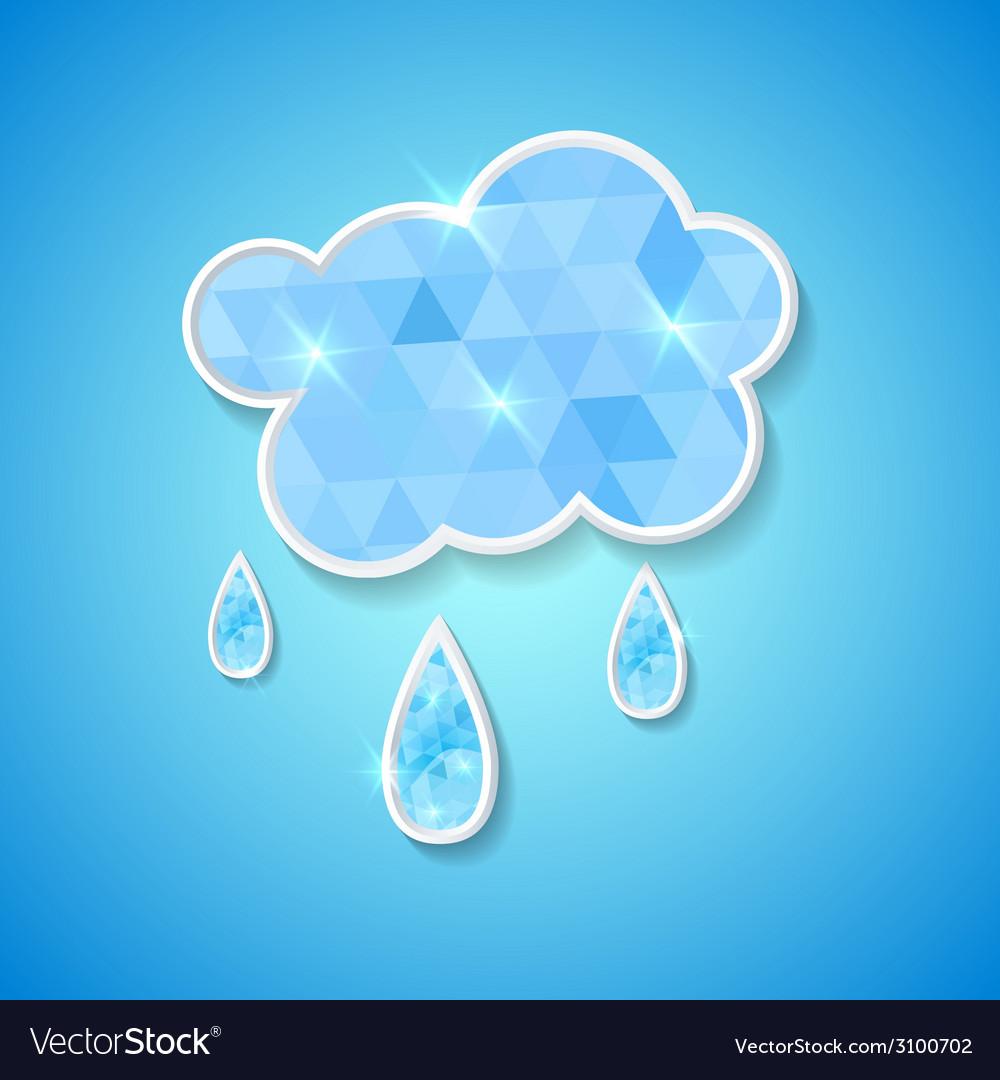 Hexagonal cloud with rain drops