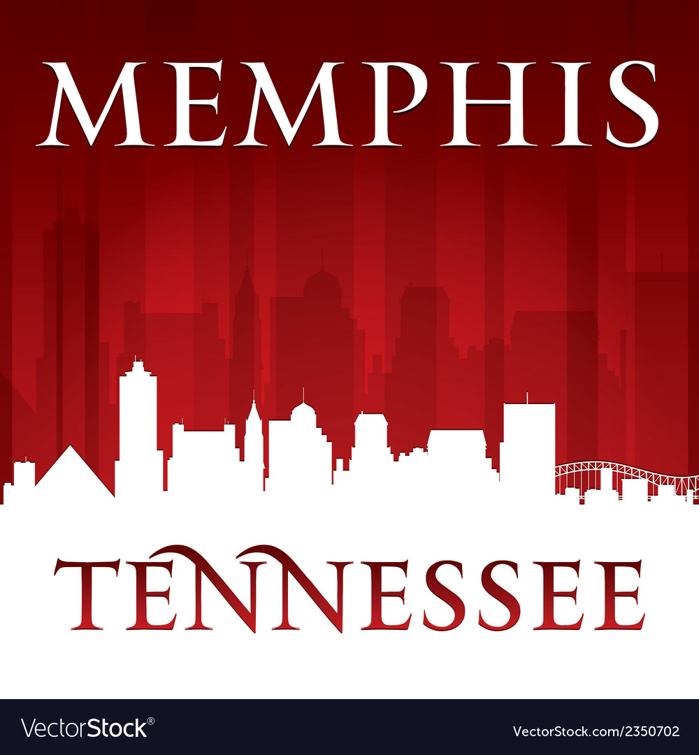 Memphis Tennessee city skyline silhouette