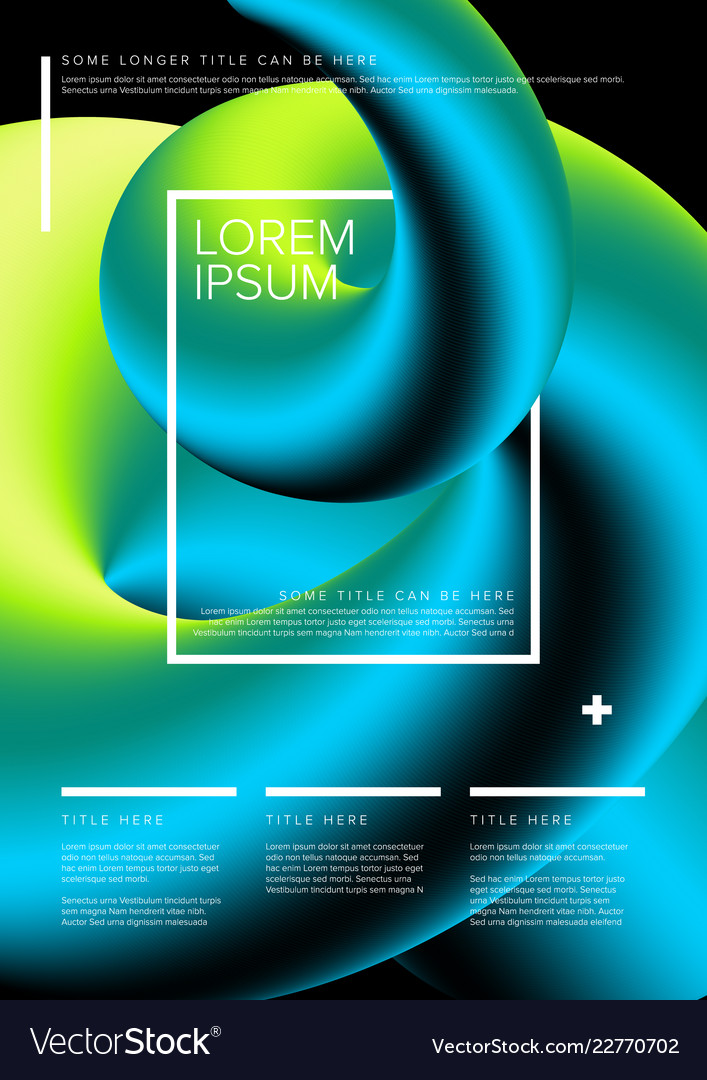Modern Art Flyer Template Royalty Free Vector Image