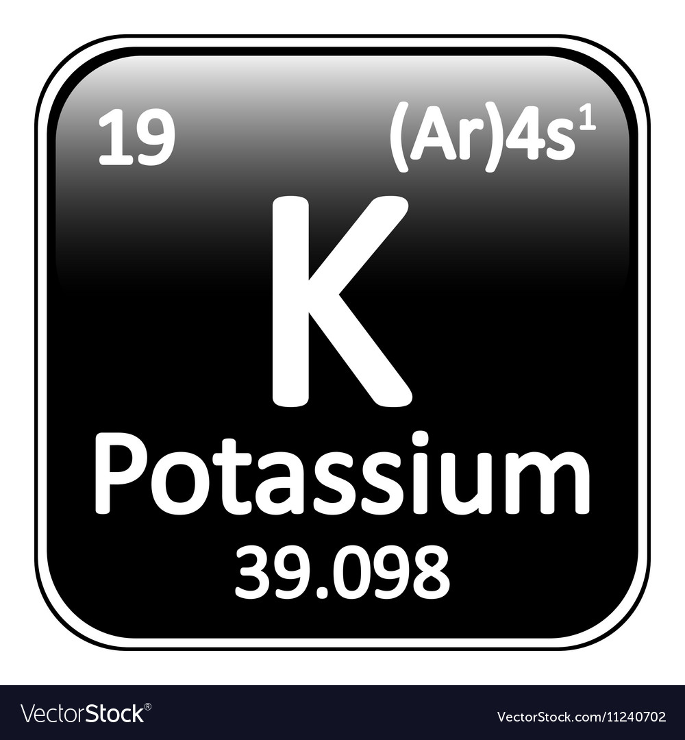 Periodic table element potassium icon royalty free vector periodic table element potassium icon vector image urtaz