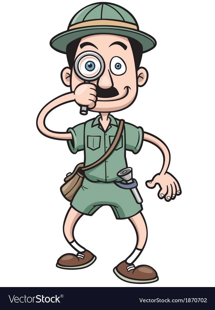 Safari man vector image