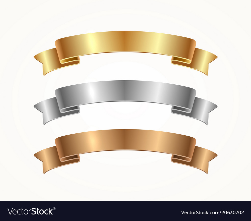 Set of banner ribbon vector image