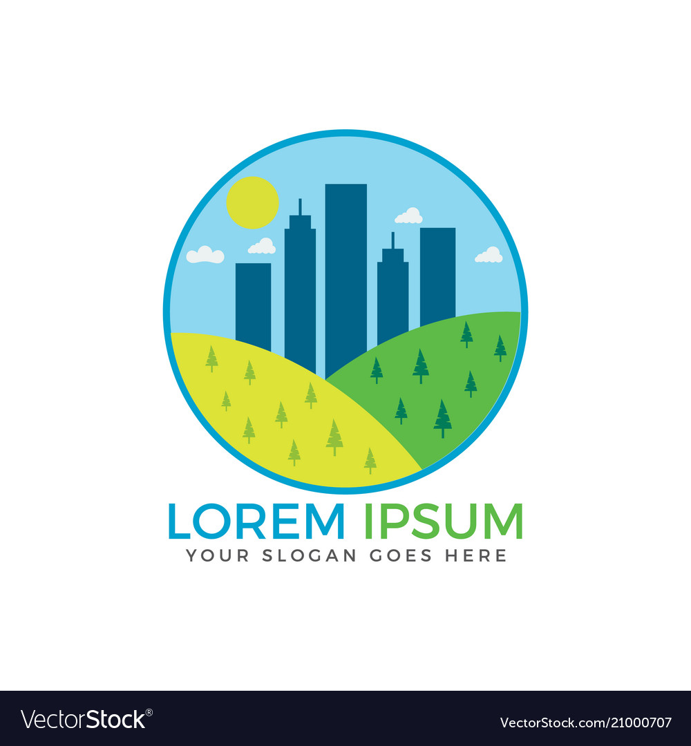 Abstract concept for real estate agency vector image