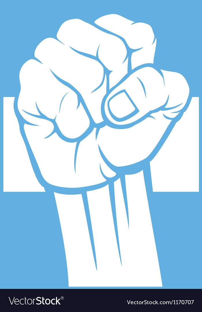 Argentina fist and flag