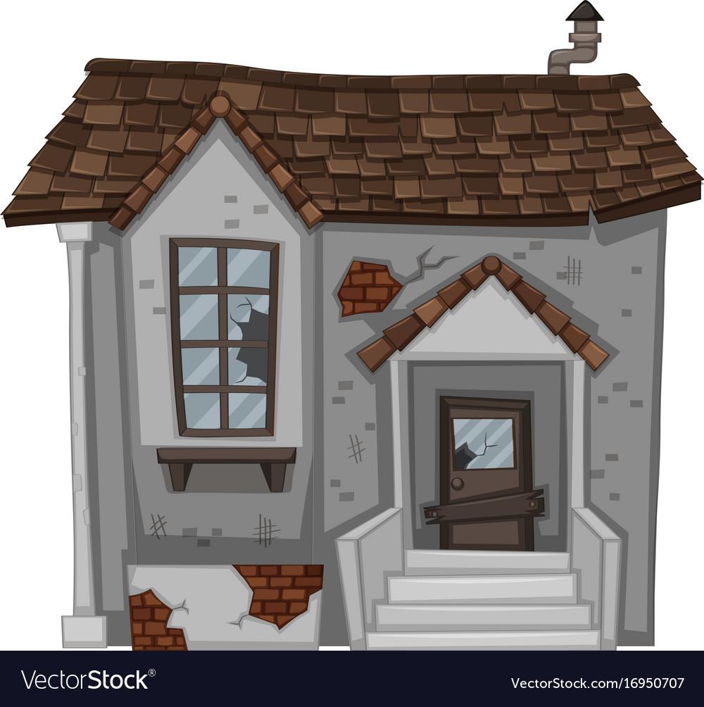 Wondrous Brick House With Broken Door And Window Download Free Architecture Designs Itiscsunscenecom