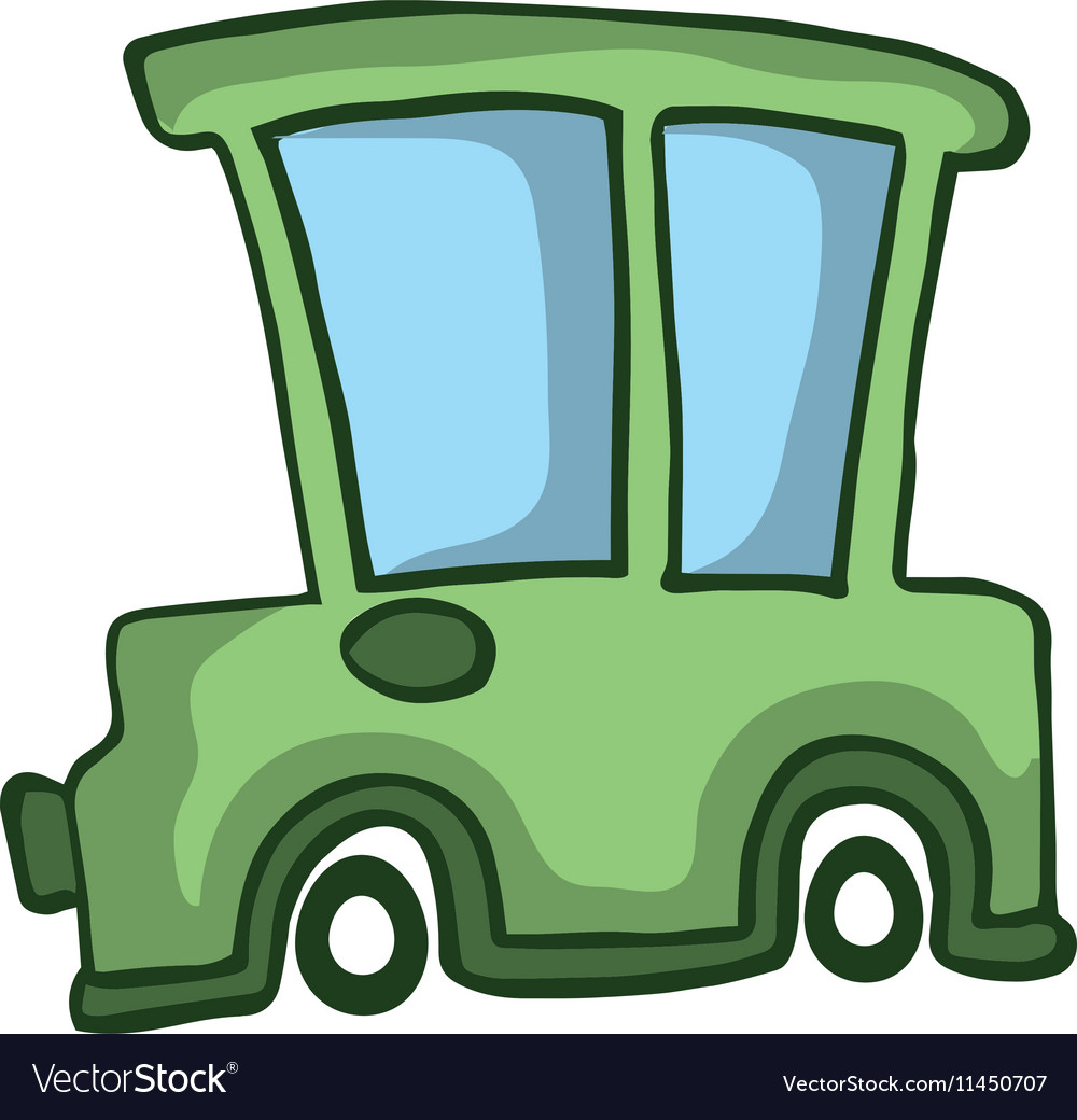 Green car design for kids vector image