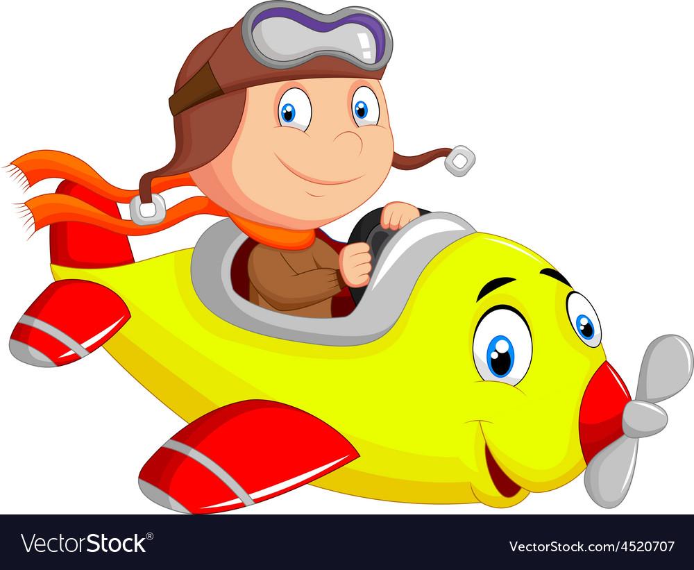 Картинка мальчик на самолете