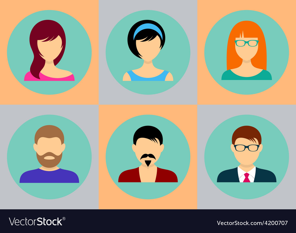 Men and women avatar icons