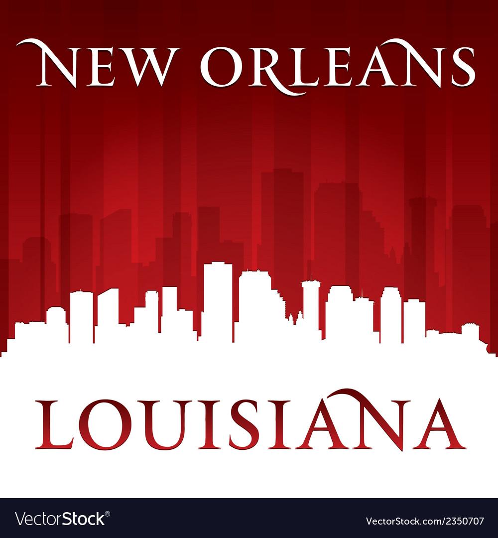 New Orleans Louisiana city skyline silhouette