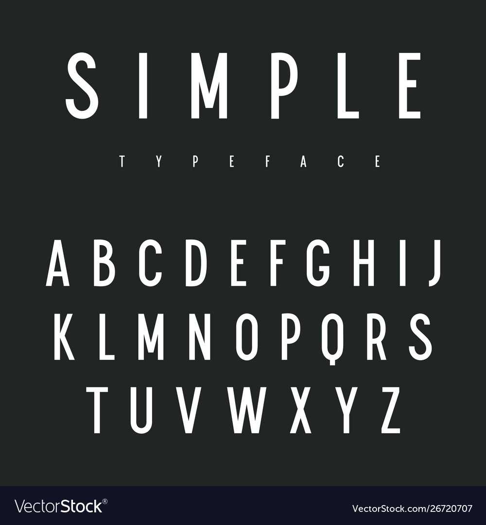 Sans serif font 001