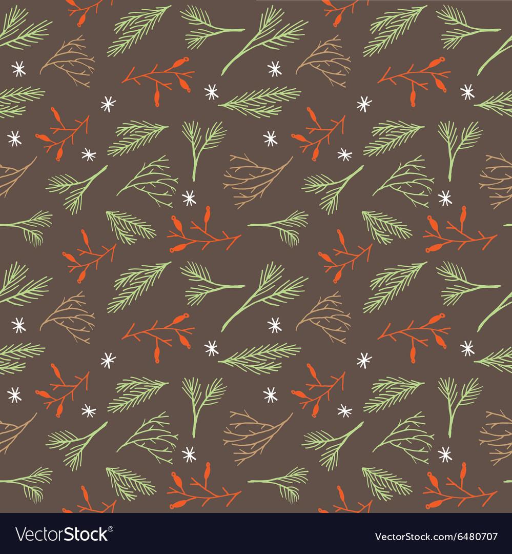 Seamless botanical winter wallpaper