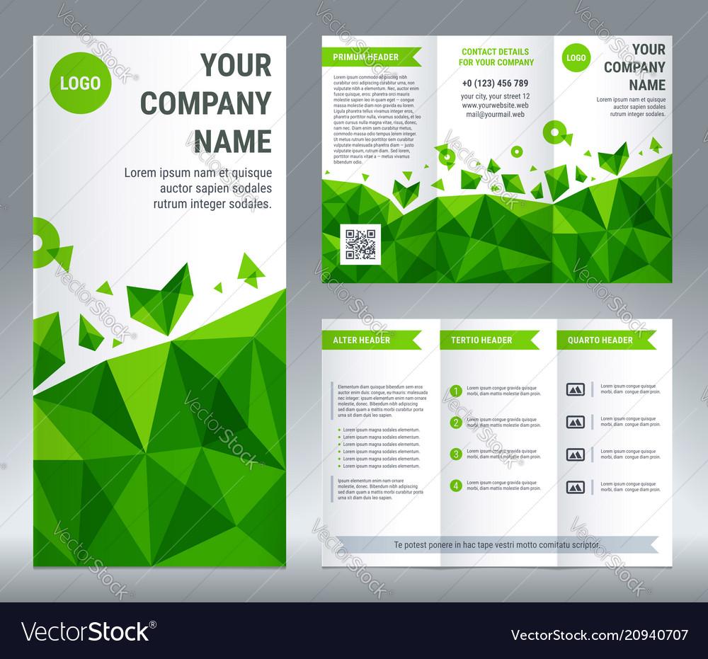 Tri-fold brochure corporate business template
