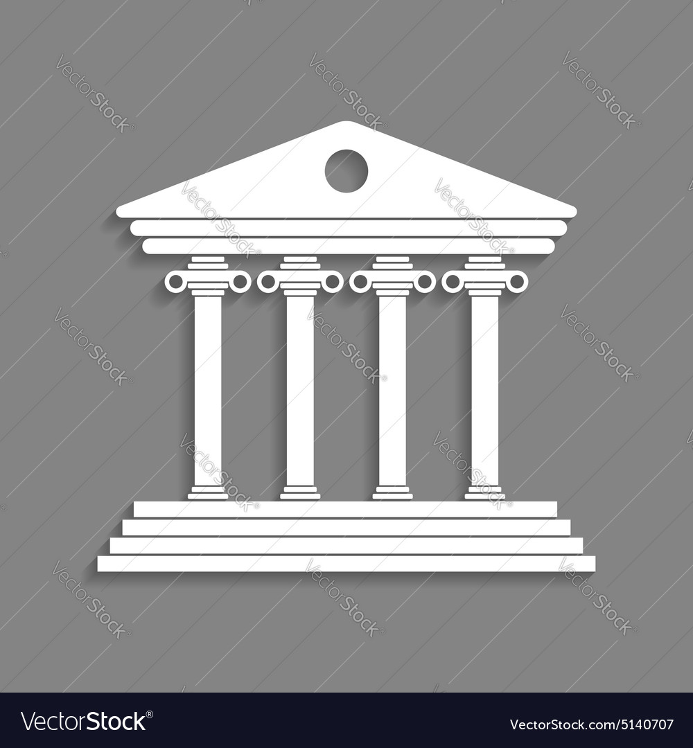White greek colonnade isolated on dark grey vector image