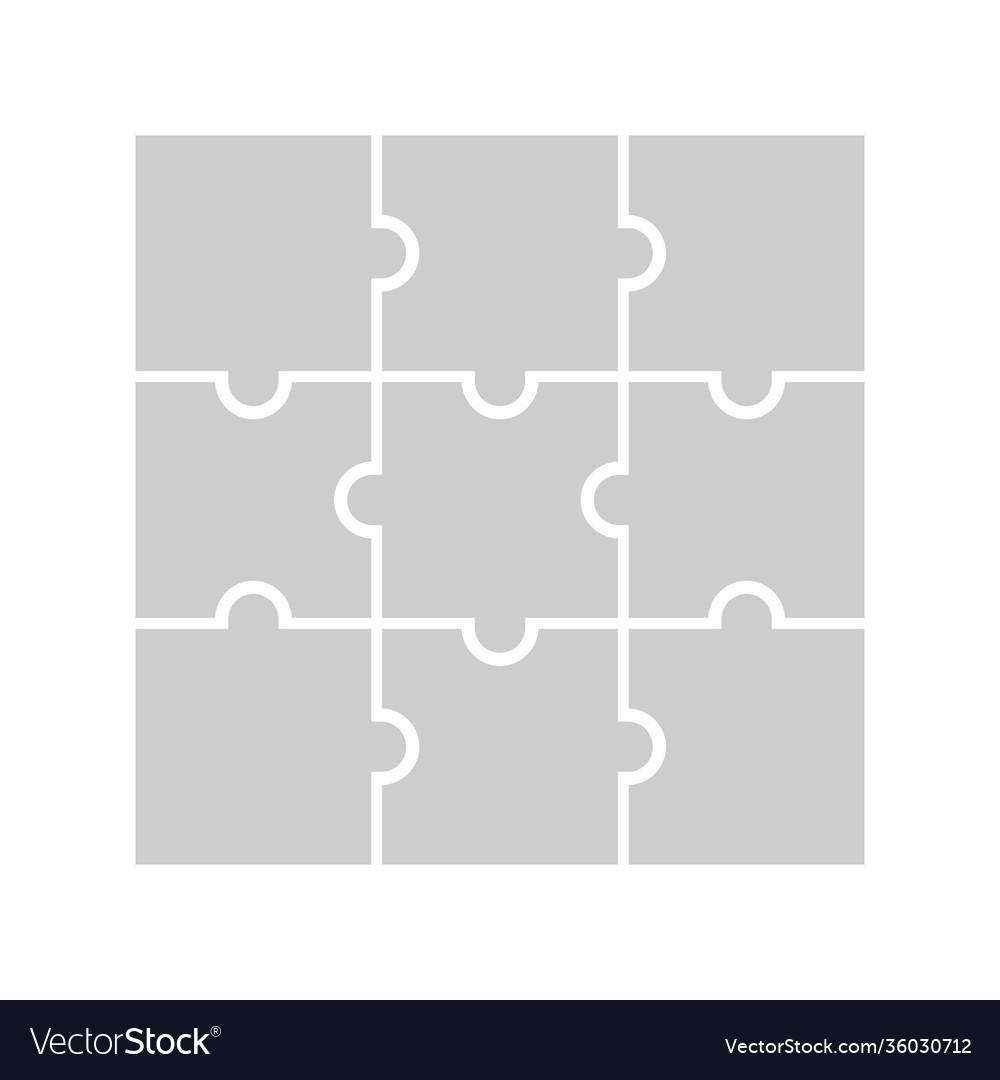 9 puzzle piece jigsaw concept background